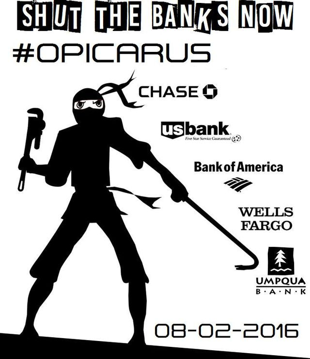 SHUT DOWN THE BANKS #OpIcarus