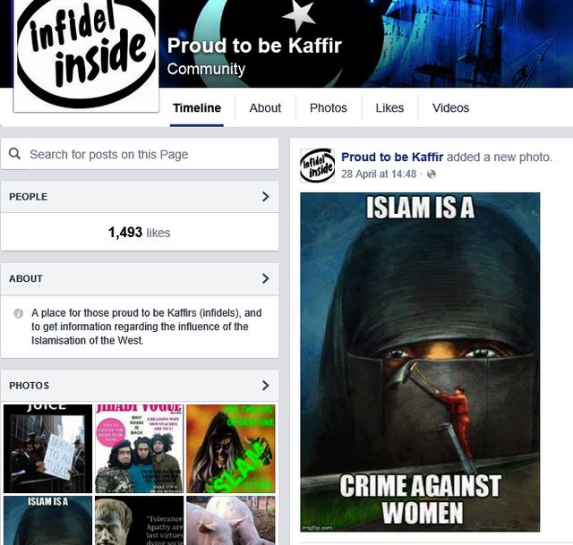 "Alderson Supports ""Proud To Be Kaffir"" EDL extreme racist community"