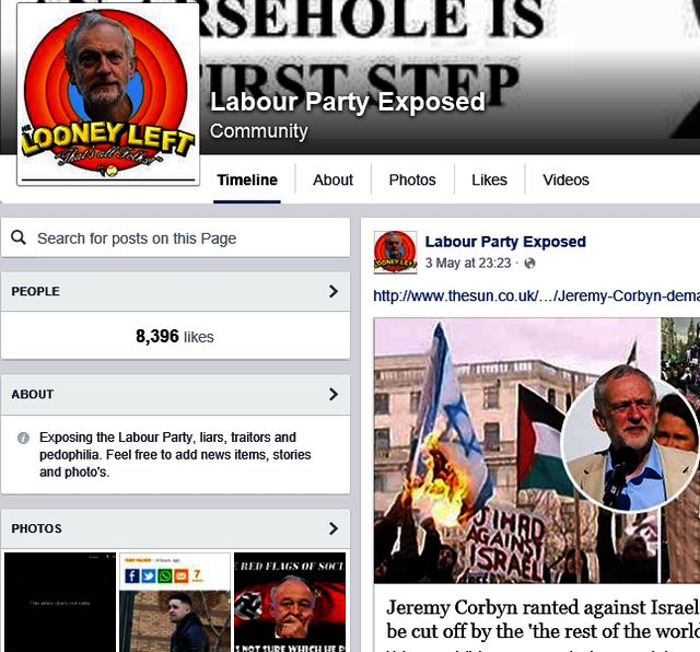 "Alderson Supports Racist Far Right ""Labour Party Exposed"" Group"