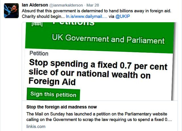 Christian Youth Leader Alderson Wants Foreign Aid Stopped