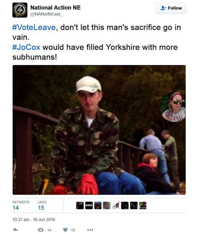 Natoonal Action Support Jo Cox's Murderer